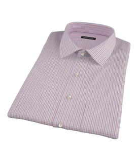 Red Davis Check Short Sleeve Shirt