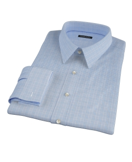 Thomas Mason Light Blue Glen Plaid Tailor Made Shirt