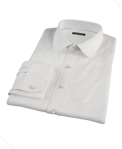 White 160s Broadcloth Custom Dress Shirt