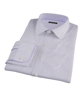 Lavender 100s Twill Fitted Dress Shirt
