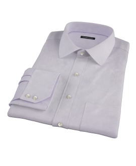 Lavender Wrinkle Resistant Cavalry Twill Men's Dress Shirt