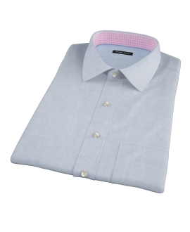 Brisbane Blue Slub Short Sleeve Shirt
