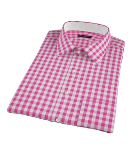 Pink Large Gingham Short Sleeve Shirt