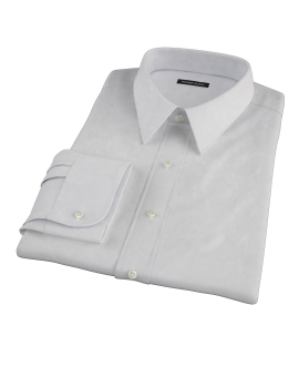 Bowery Light Grey Pinpoint Custom Made Shirt