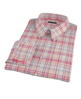 Red and Blue Organic Madras Custom Dress Shirt
