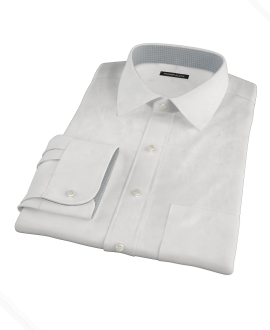 Cabo White Fitted Dress Shirt