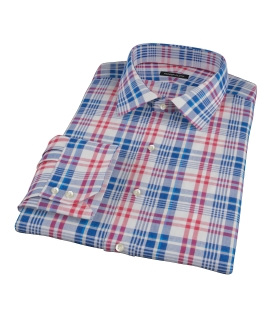 Red White Blue Madras Tailor Made Shirt