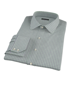 Canclini Green and Blue Multi Gingham Fitted Shirt