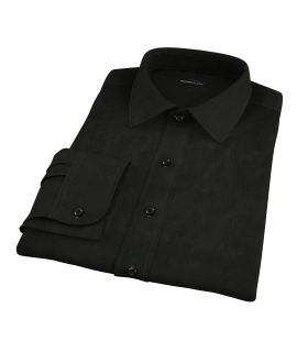 Black Broadcloth Tailor Made Shirt