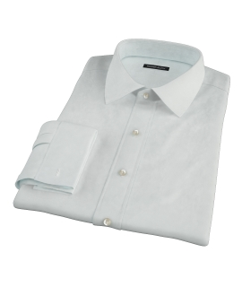 Bowery Mint Green Pinpoint Fitted Shirt