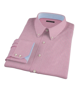 Canclini Red Mini Gingham Dress Shirt