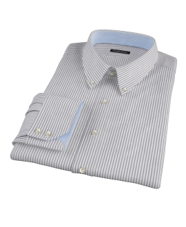 Canclini Black Stripe Fitted Shirt