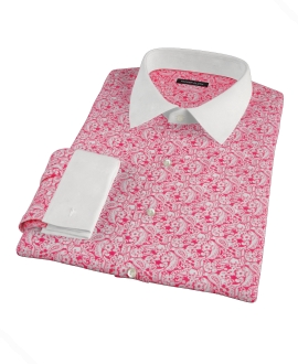 Canclini Red Paisley Print Custom Made Shirt
