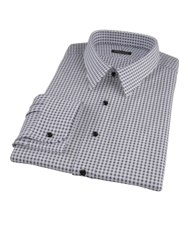 Medium Black Gingham Fitted Dress Shirt