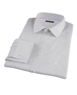 Canclini Tan Gassato Stripe Custom Dress Shirt