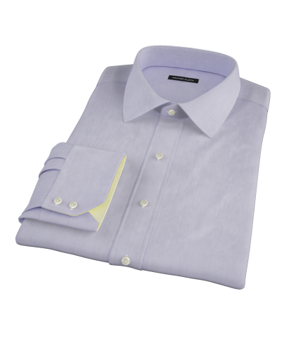 Albini Purple Superfine Stripe Men's Dress Shirt