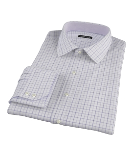 Canclini Lavender Multi Grid Dress Shirt