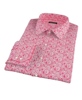 Canclini Red Paisley Print Men's Dress Shirt
