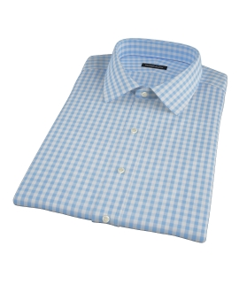 Canclini Light Blue Gingham Short Sleeve Shirt