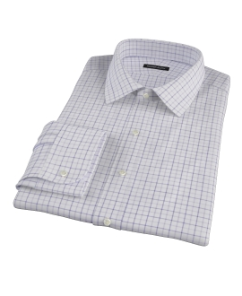 Canclini Lavender Multi Grid Fitted Shirt