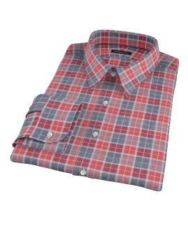 Rust Dock Street Flannel Tailor Made Shirt