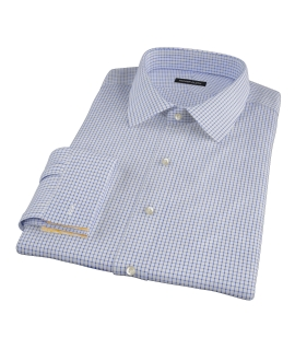 Blue Grid Men's Dress Shirt