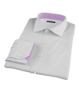 Canclini White Imperial Basketweave Dress Shirt