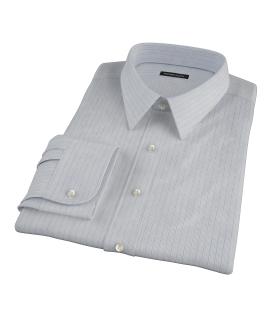 Japanese Light Blue Multi Stripe Custom Dress Shirt