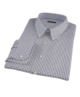 Medium Black Gingham Custom Dress Shirt