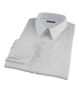 Lavender and Black Fine Satin Stripe Custom Dress Shirt