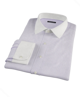 Canclini Lavender Stripe Custom Dress Shirt
