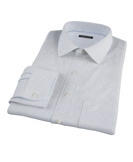 Canclini 140s Blue Multi Stripe Dress Shirt