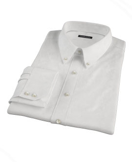 Thomas Mason White Oxford Fitted Shirt