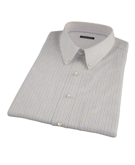 Yellow Davis Check Short Sleeve Shirt