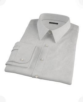 Canclini Light Gray End on End Fitted Dress Shirt