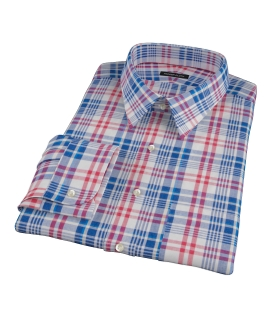 Red White Blue Madras Custom Dress Shirt