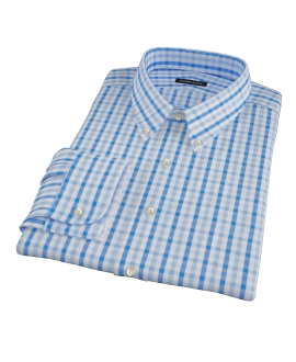 Light and Dark Blue Gingham Custom Made Shirt