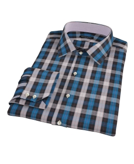 Crosby Blue Plaid Fitted Dress Shirt