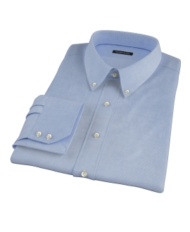 Thomas Mason Blue Mini Houndstooth Tailor Made Shirt