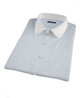 Bowery Light Blue Wrinkle-Resistant Pinpoint Short Sleeve Shirt