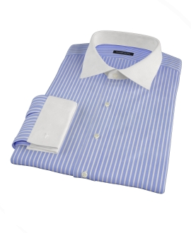 Canclini Blue Reverse Bengal Stripe Men's Dress Shirt