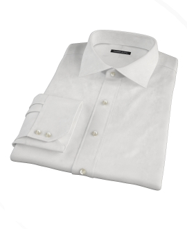 White 100s Twill Custom Dress Shirt