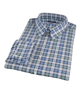 Vincent Green and Blue Plaid Custom Made Shirt