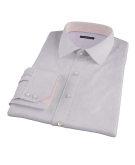 Albini Red and Blue Mini Tattersall Dress Shirt