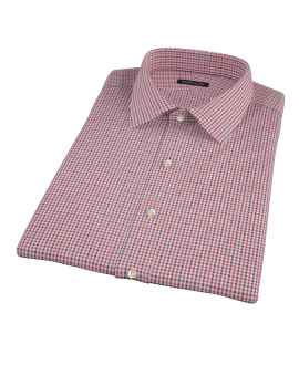 Canclini Red and Navy Gingham Short Sleeve Shirt