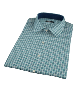 Veridian Green Oxford Plaid Short Sleeve Shirt