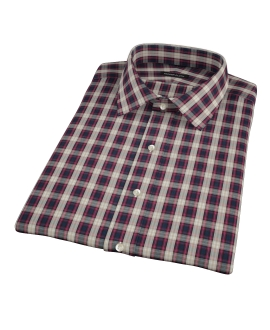 Mulberry Gold Plaid Short Sleeve Shirt