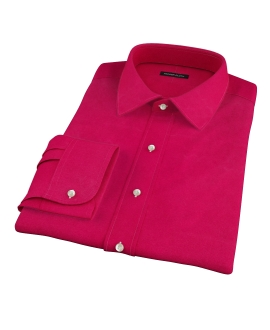 Crimson Red Heavy Oxford Fitted Dress Shirt