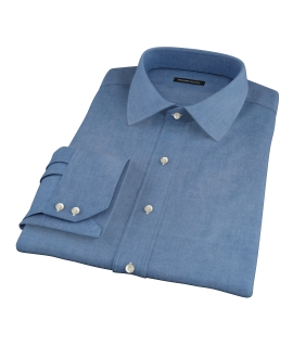 Crosby Steel Blue Denim Custom Dress Shirt