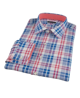 Red White Blue Madras Custom Made Shirt